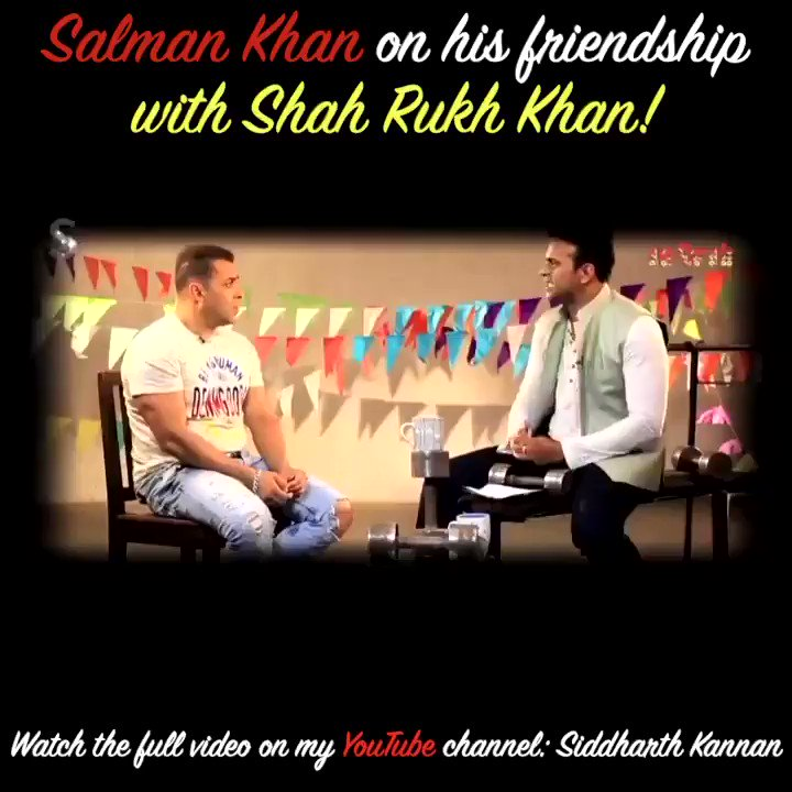 .@BeingSalmanKhan opens up about his friendship with @iamsrk! These are words to live by!  Watch the full video on my @youtubeindia channel:   #SidK #SalmanKhan #shahrukhkhan #srk #Bollywood