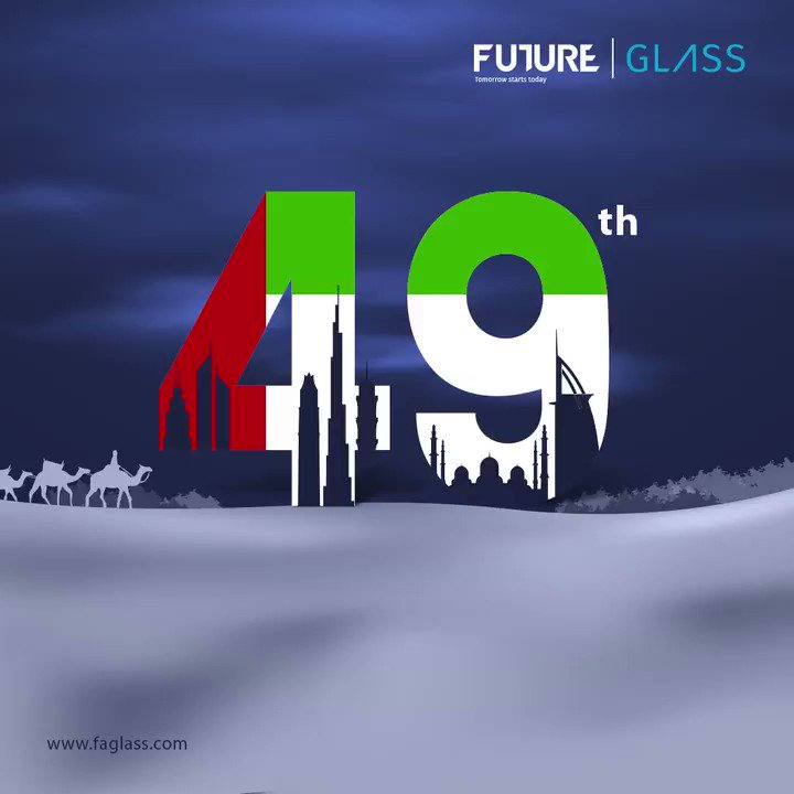 Happy 49th #uaenationalday2020. Celebrating the spirit of the union that inspires us to build a happy, sustainable, and inclusive future together!  #FutureGlass #TomorrowStartsToday . . #nationalday #nationalday2020 #49thNationalDay #Greetings  #Celebrations