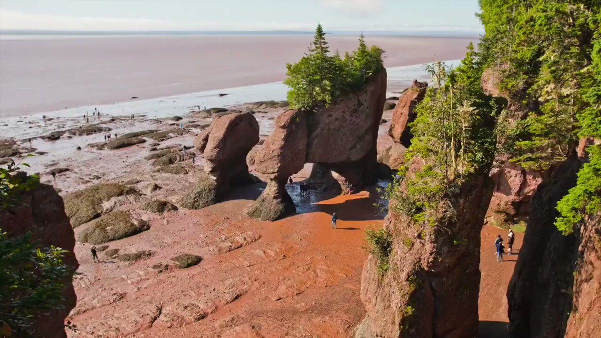 Bay of Fundy #NovaScotia  highest tidal flow in the world.