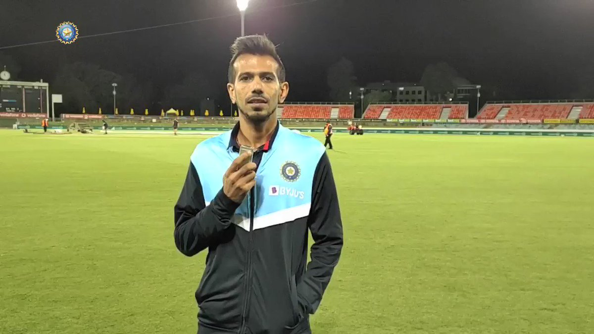 WATCH - The return of Chahal 📺 from Down Under 😎  Presenting @imjadeja, Chahal TV's special guest after Team India's 13-run win over Australia in Canberra - by @Moulinparikh   Full interview 👉 #TeamIndia | @yuzi_chahal | #AUSvIND