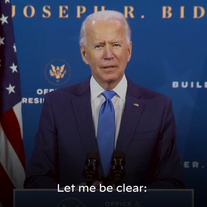 The Biden-Harris administration will build an economy where every American enjoys a fair return for their work and an equal chance to get ahead. An economy more vibrant and more powerful precisely because everybody will be cut in on the deal.   America—help is on the way.
