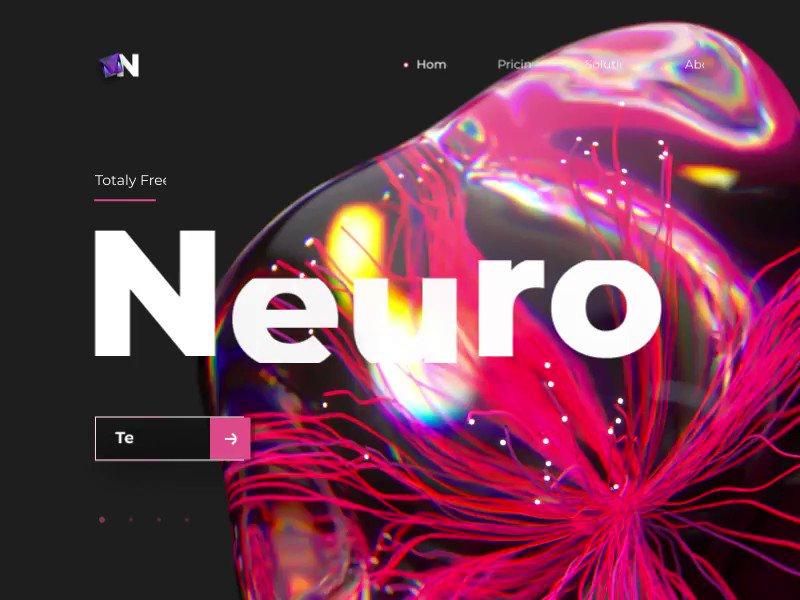 Neural Network Website by Maxim Gedrovitch. Check it here  👉  #uigiants #uiux #webdesigner #LandingPage #Website #websitedesign #UserExperience #UserInterface #animation