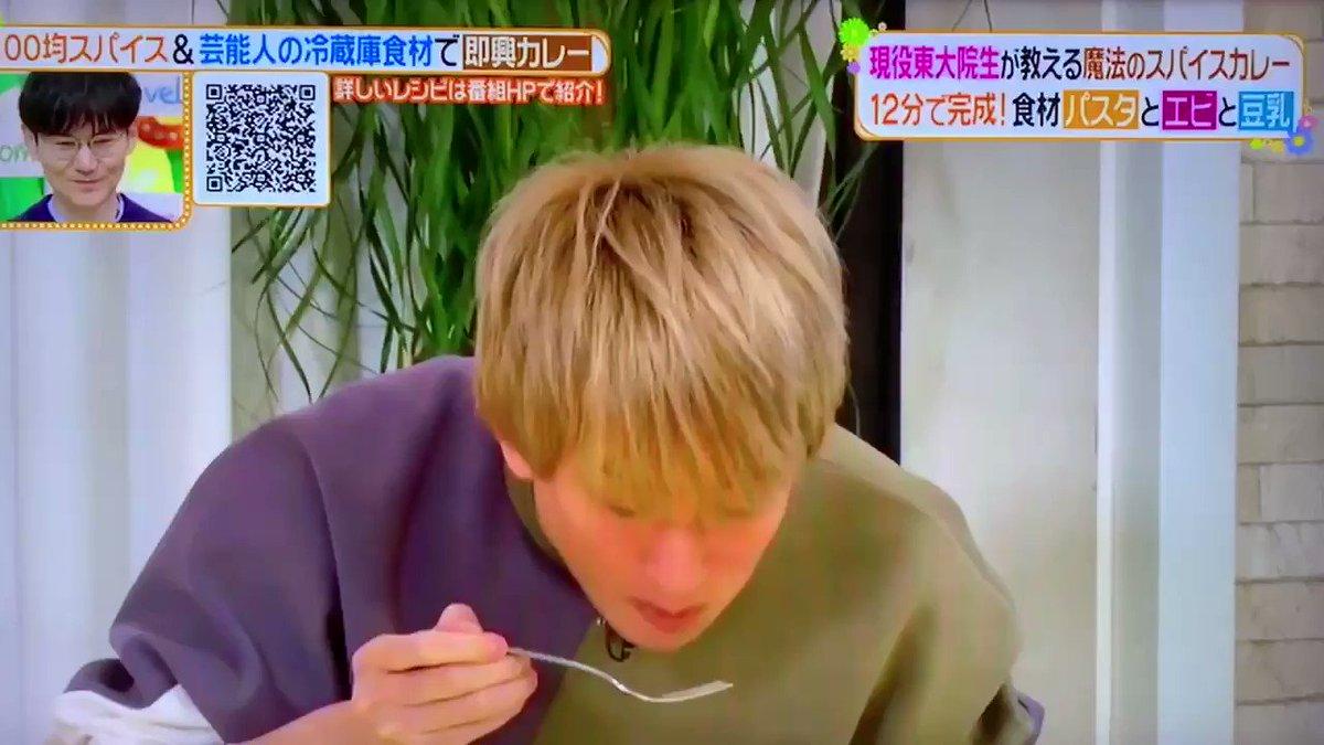 ずっとお目目キラキラしてるんだけど✨めっちゃ可愛い美味しいもの食べる横山さん https://t.co/ZVSpS7eYrc