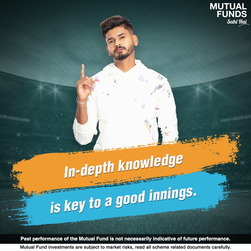 For Shreyas, understanding the pitch condition is crucial to create a solid batting strategy. Waise hi, Mutual Funds ka past performance samajhna sahi hai because this may help you select the right Mutual Fund scheme for your financial goal. #INDvsAUS #MutualFundsSahiHai