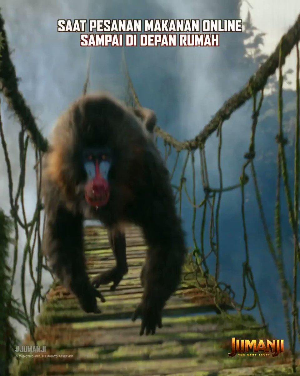 Hungry is my middle name!  Siapa yang belom tahu kalo #JumanjiMovieID tayang lagi di Bioskop?