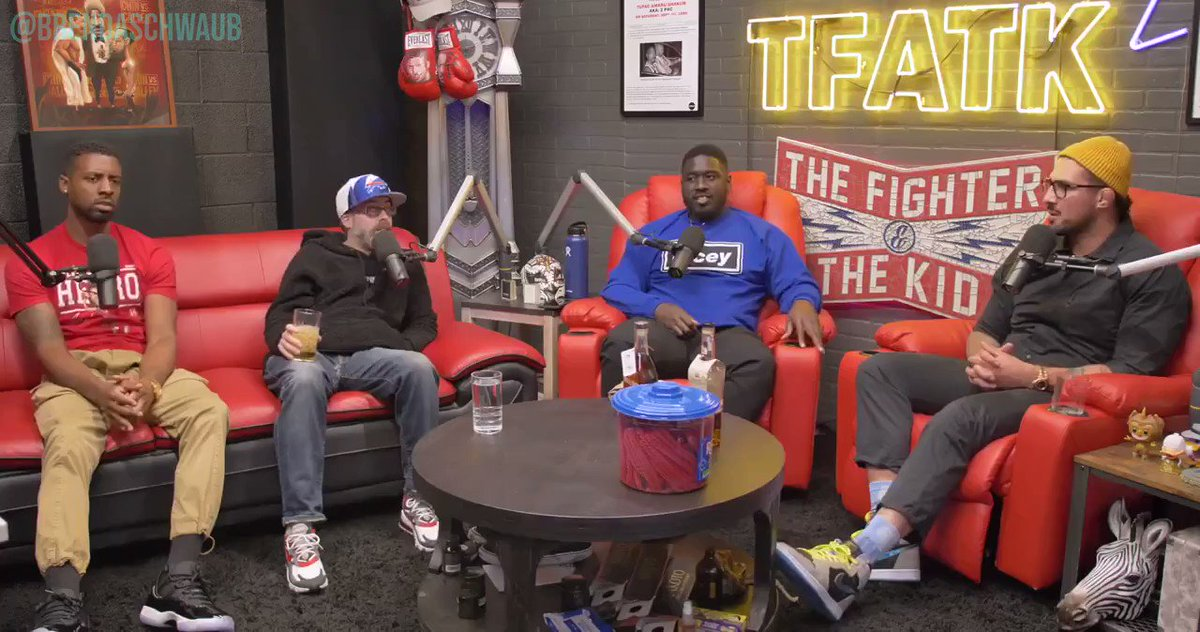 """""""NUTS AND BUTTS"""" Oh, they probably just didn't hear you, Bubba, just repeat it 3 times.   Comedic genius Brendan Schaub.  #TFATK #brendanschaub #mma #ufc #CTE #shapellacey #malikbazille #Showtime #joshpotter https://t.co/0BkfgE7bLa"""