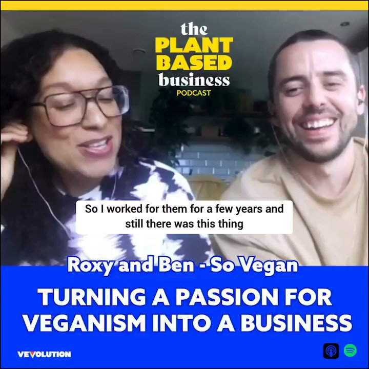Want to know how Roxy and Ben from @wearesovegan turned their passion for vegan food into a viable business? Series 3 of The Plant-Based Business Podcast has you covered! Listen to their episode here 👉    #VeganPodcast #VeganFood