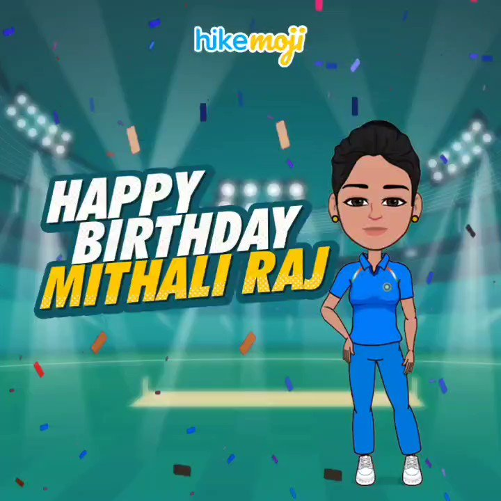 Happy birthday to our fearless Indian Skipper! @M_Raj03 🥳🎉 You always hit it out of the park and for that we say 'Shabash Mithu'!🏏 👏  #MadeinIndia #VocalforLocal #HikeMoji #HikeFriends   #MithaliRaj #IndianCricket #WomenCricketTeam
