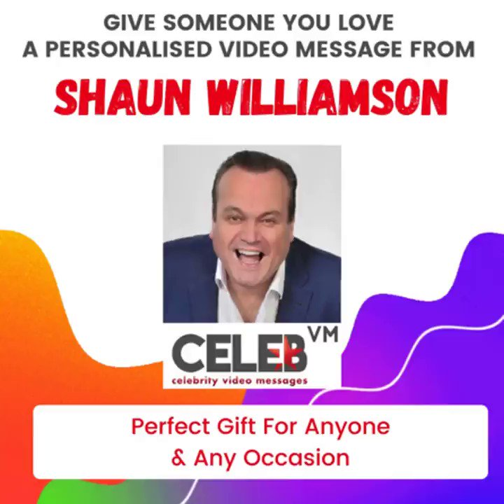 Get an incredible personal video message from Shaun Williamson, perfect gift for any occasion! Order now at  @ShaunWilliamson #Eastenders #Extras #LifesTooShort