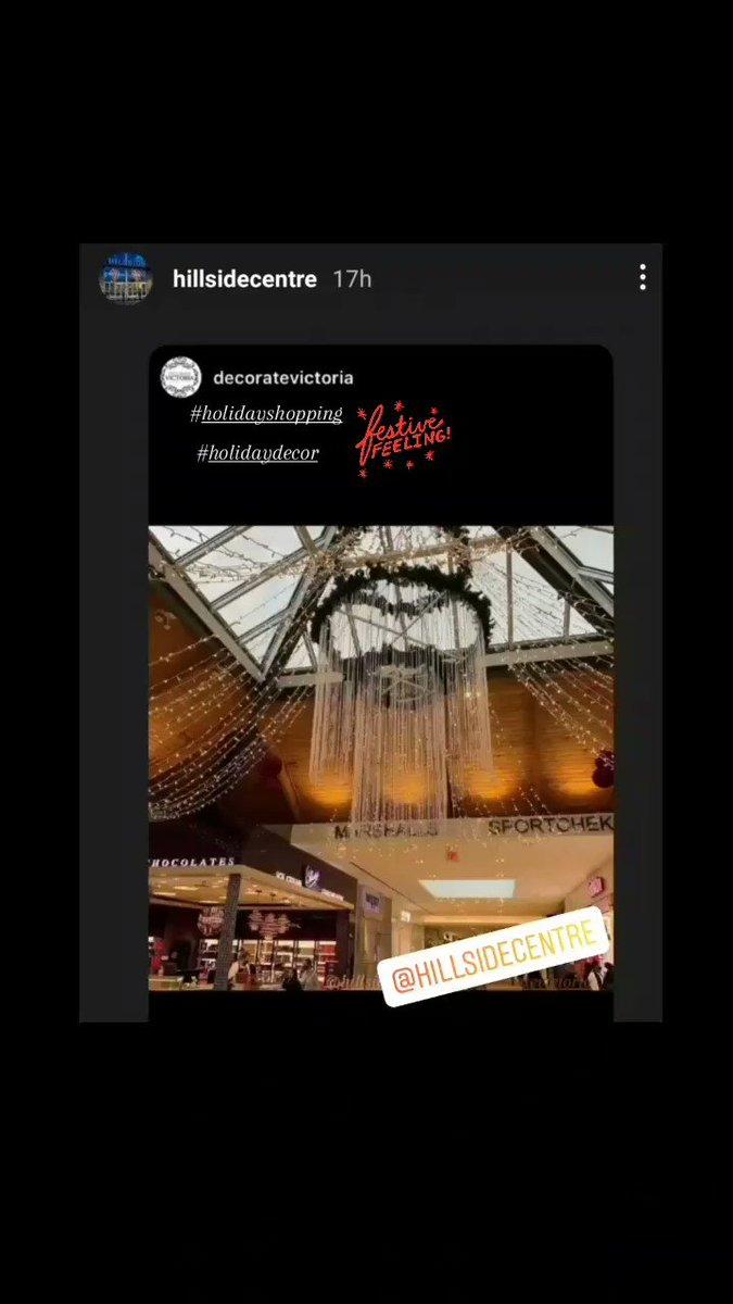 @DecorVictoria @HillsideCentre #Festive #festiveseason #festivevibes #holidayshopping  #lights #xmas2020 #xmasseason #decoratevictoria #yyjevents #eventdecor #eventplanning #hillsidecentre #holidays #minilights #chandelier #ceilingtreatment #holidaydecor #Christmas2020 #victoria