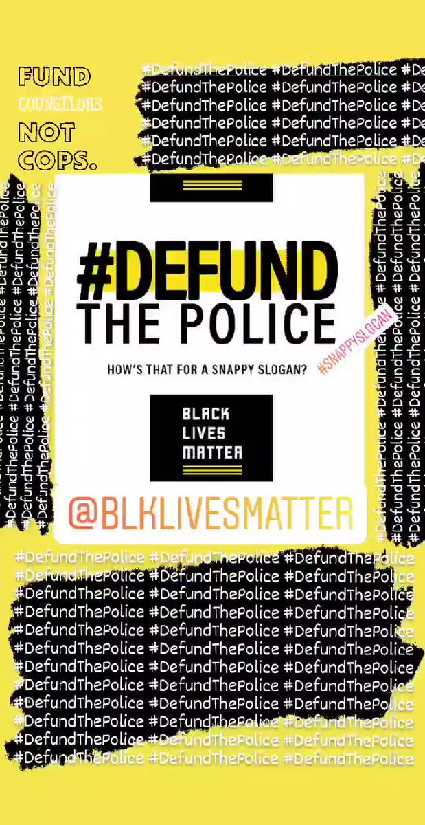 President @BarackObama, how's that for a #snappyslogan? #DefundThePolice  Perhaps other slogans do not know denounce ***explicitly*** the systemacity of a broken institution.  #SayHerName  #SayHisName  #SayTheirName #BlackLivesMatter @Blklivesmatter