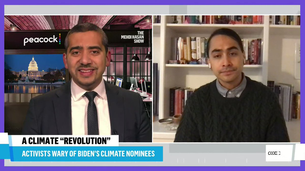 Speaking with @mehdirhasan, @jnoisecat urges the Biden administration to take urgent executive action to combat our climate crisis: We should be using the full, robust abilities of the government to be taking actions on climate change.