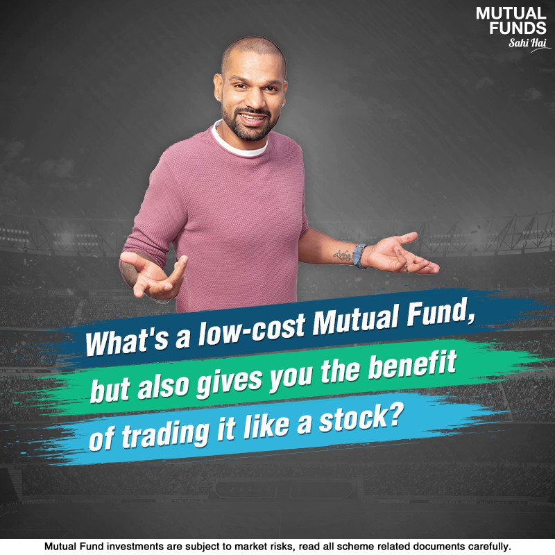 ETFs invest in a basket of securities that reflect the composition of a market index like NIFTY, SENSEX, or even an asset class like Gold. They make for an attractive option to diversify your portfolio because of the low costs and stock-like features! #ExchangeTradedFunds