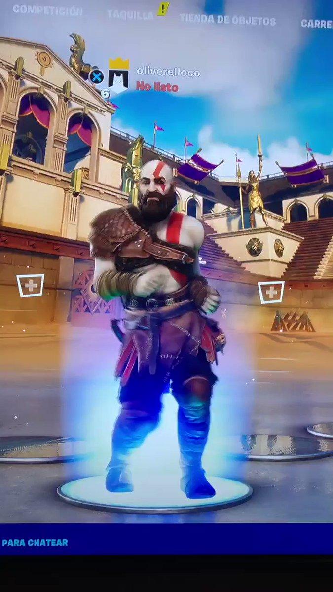 ¿Lo bueno de tener a #Kratos en #Fortnite? 👀