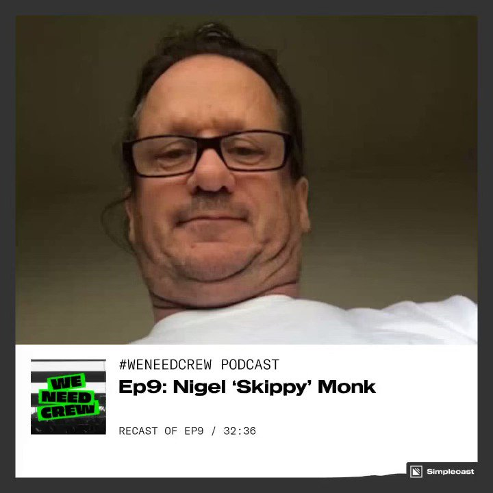 Happy Friday! It's time for Episode 9 of the WNC podcast. This week we welcome a very funny, very lovely Lampy, Skippy Monk.  To listen just head to our website  or search #weneedcrew on Apple / Spotify podcasts.  #podcast #musicindustry #wemakeevents