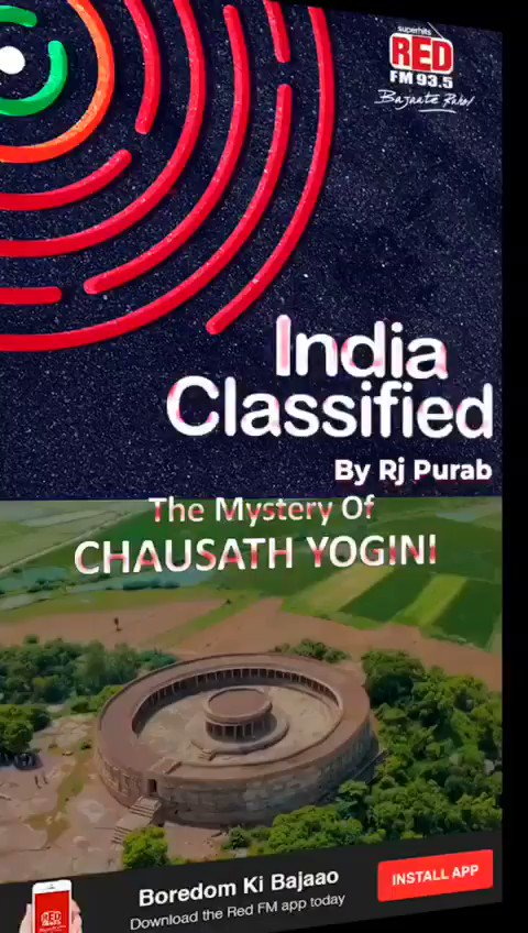 Chausath Yogini Temple located atop the hill in a lush green serene environment in Jabalpur, MP, is one of the oldest heritage sites in India. From the top of the hill, you can have a fine view of the surroundings and the Narmada river.   @RedFMIndia @RjPurab #IndiaClassified