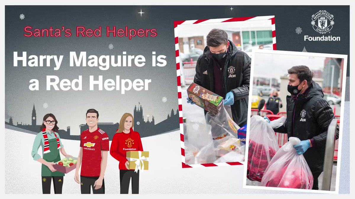 The players and I are thrilled to support @mu_foundation's #SantasRedHelpers Christmas campaign.  I had a great time meeting volunteers, helping them to prepare activity bags and meal hampers.    Find out how you can become a Red Helper, too...
