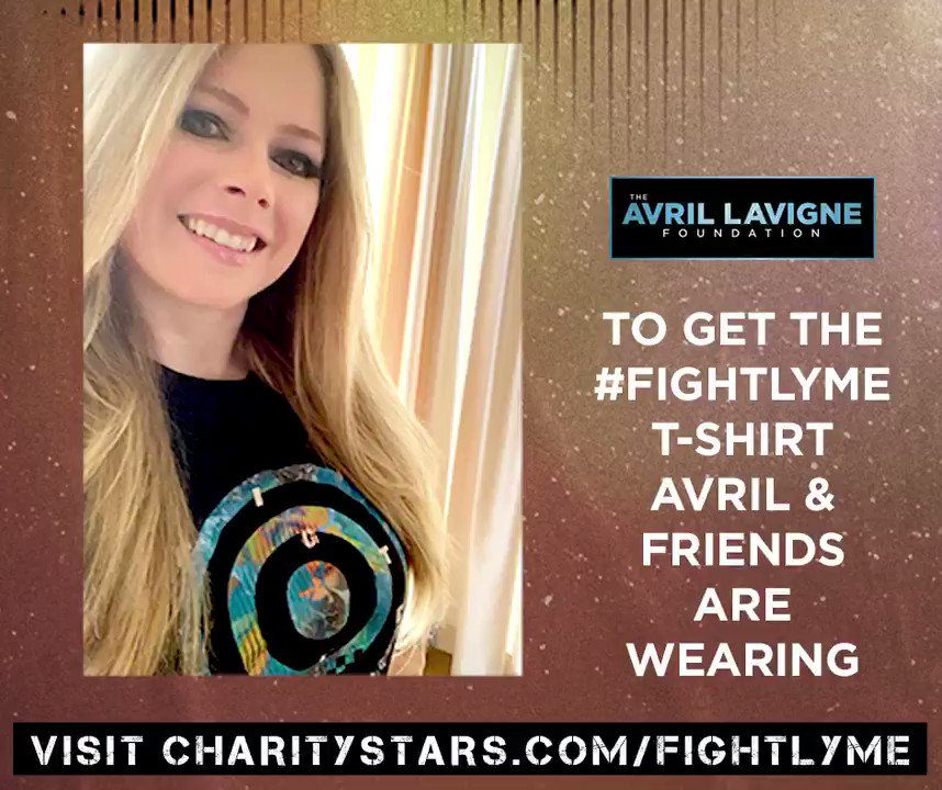To get the #FightLyme T-Shirt Avril & Friends are wearing, please visit  ! 100% net proceeds from this shirt help provide PREVENTION resources and TREATMENT grants to individuals and families affected by Lyme disease, and to accelerate scientific RESEARCH.