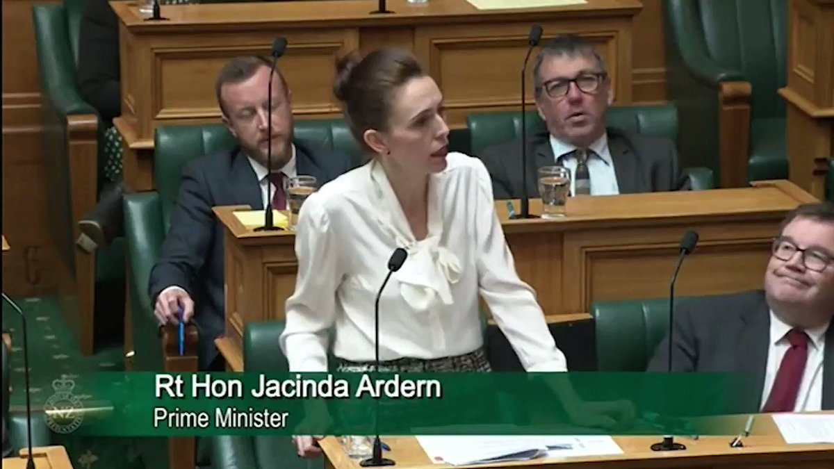 New Zealand just became one of the only countries in the world to declare Climate Change a global emergency.  Here's Prime Minister Jacinda Ardern's incredibly passionate statement on why the world needs to act.  Leadership...