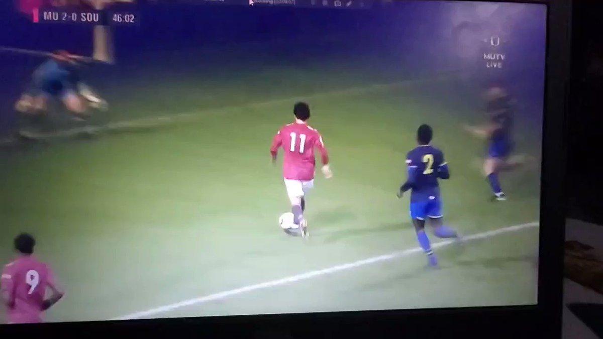 🏃 #MUAcademy U23's Match Alert 🚨 46' Facundo Pellistri scores his FIRST UNITED GOAL! #GGMU 🔴