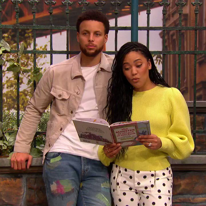 Our furry and lovable friend @Grover is the monster at the end of the book! Join @StephenCurry30 and @ayeshacurry for a reading of this classic Sesame Street storybook:  #FurryMonsters