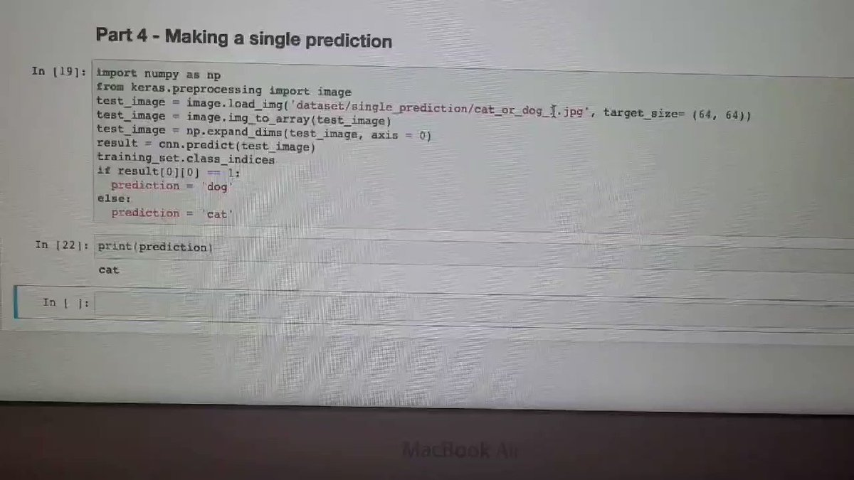Image for the Tweet beginning: Built a binary image prediction