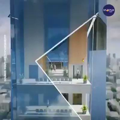 Image for the Tweet beginning: These Elevators can go Sideways by