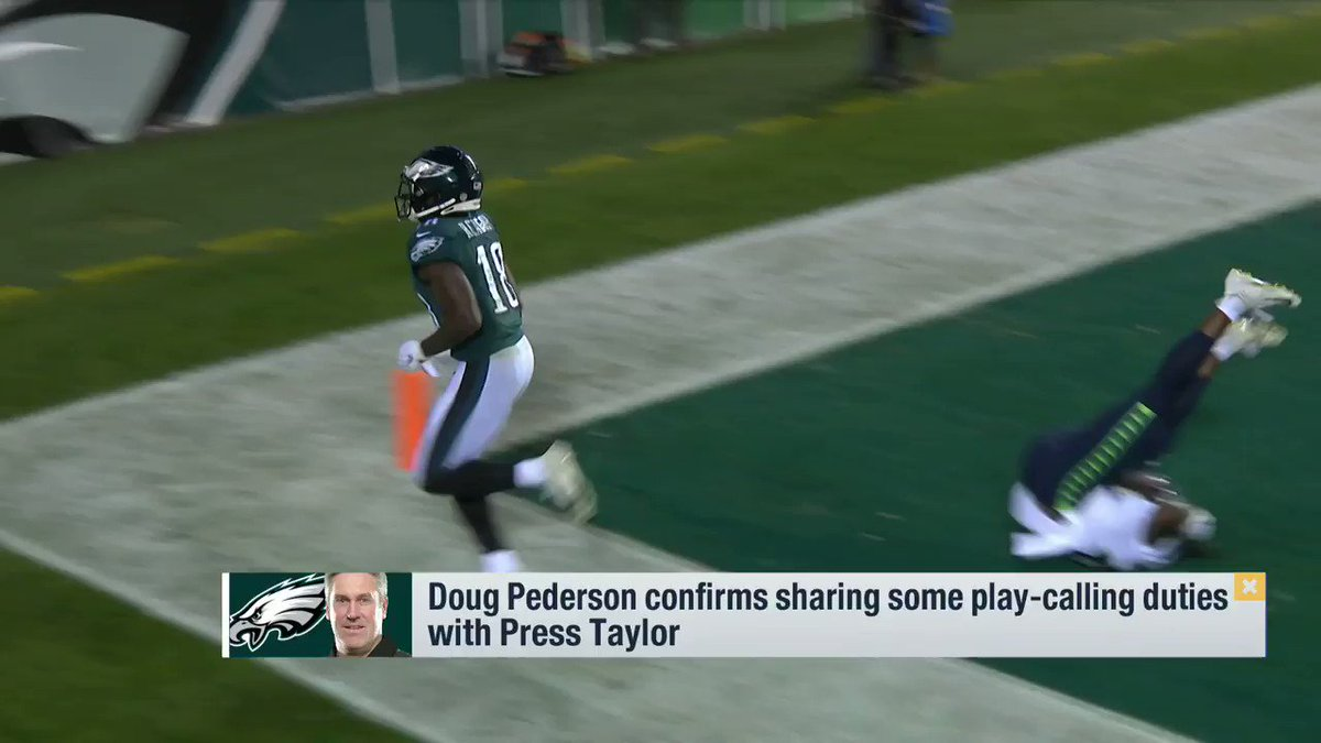 From @gmfb Weekend: #Eagles assistant Press Taylor called offensive plays for the the entire second half against the #Seahawks, though Doug Pederson doesn't think it's that big of a deal.