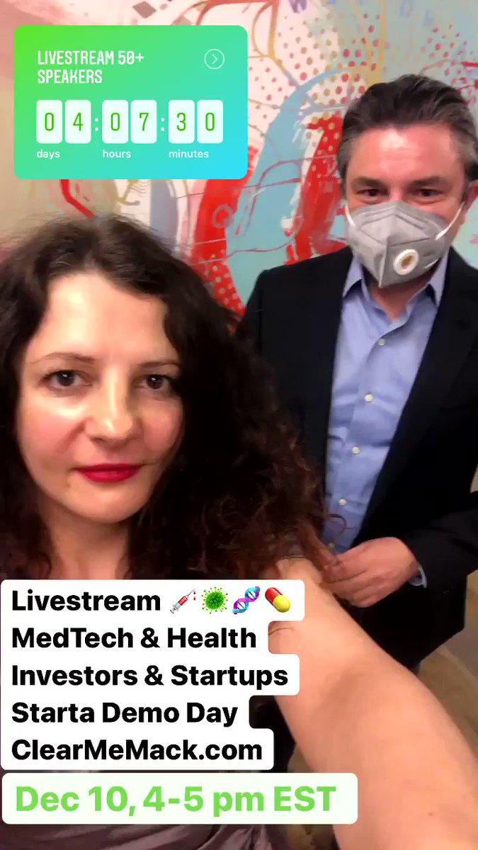 Join us Livestream 💉🦠🧬💊 MedTech & Health  Dec 10, 9 am - 5 pm EST @StartaAccel Demo Day  Partners @Restreamio @Everytale1 @iLiftTV  Subscribe  #startup #investor #HealthTech #MedTech #AI #Entrepreneurship #NewYorkCity #tech #COVID