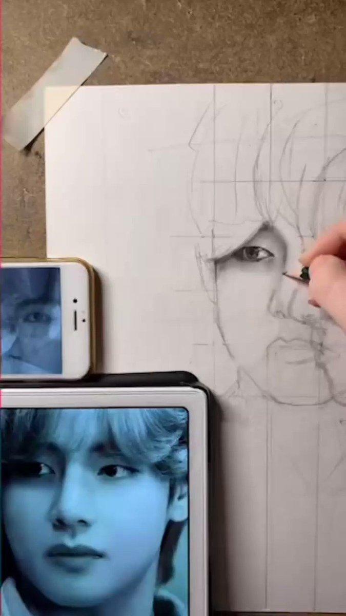 Первый эфир - done ✅  #drawing #kpopart #btsfanart #vfanart #Taehyung #BTSxMMA #BTSART #BANGTAN #art #viral