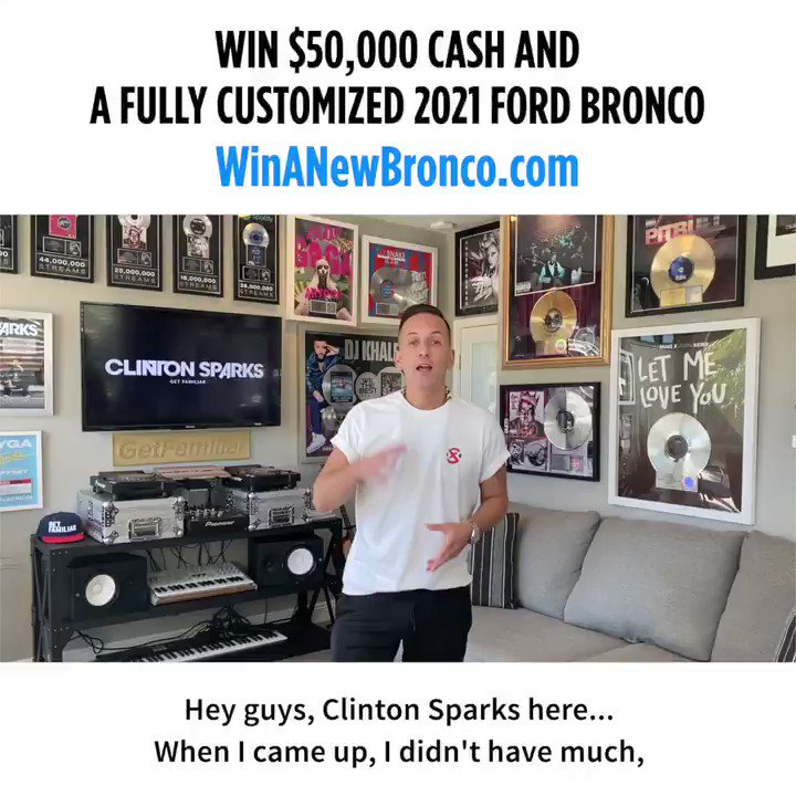 WIN $50,000 AND a fully customized 2021 Ford Bronco First Edition worth $100k!!   I've teamed up with @ludacris @kidnation @galpinford to give you the chance to while supporting 10,000 kids at local Boys & Girls Clubs across the country.  Enter here: