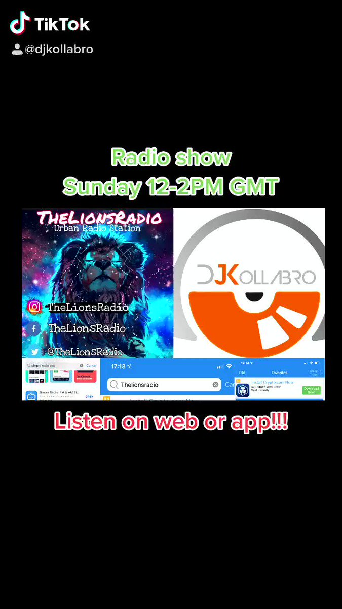 #happy to say I'll be #hosting my #debut #radioshow on #thelionsradio on #sunday #12til2pm #gmt  It'll be #2hours of #sundaychill #sundayvibes of #house #dance #edm by #djkollabro all in the #djkollabromix   Tune in #online or via the #app #simpleradio and search #lionsradio