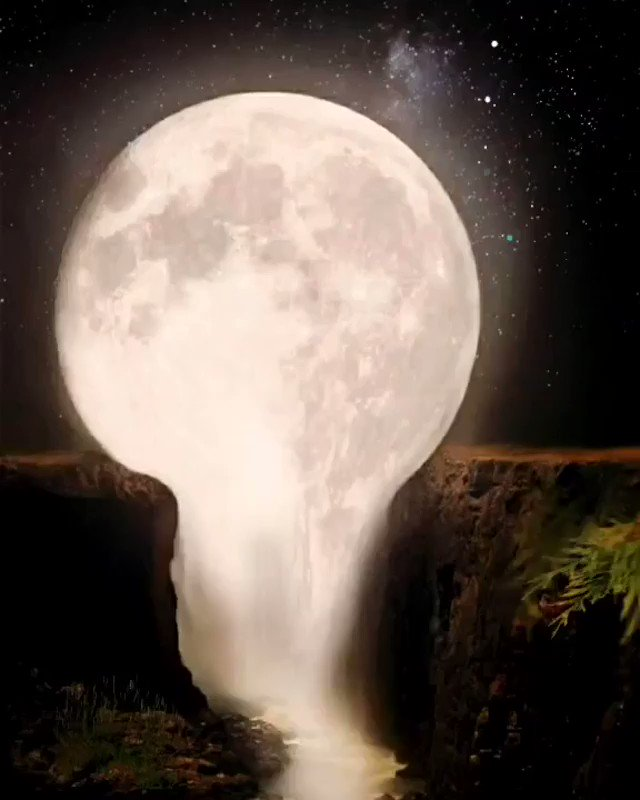 Calm melting Moon #relaxify #moon #moonlight #stars #nature #REMDreamCheck #naturelover #relaxing #calm #meditation #soothingsounds