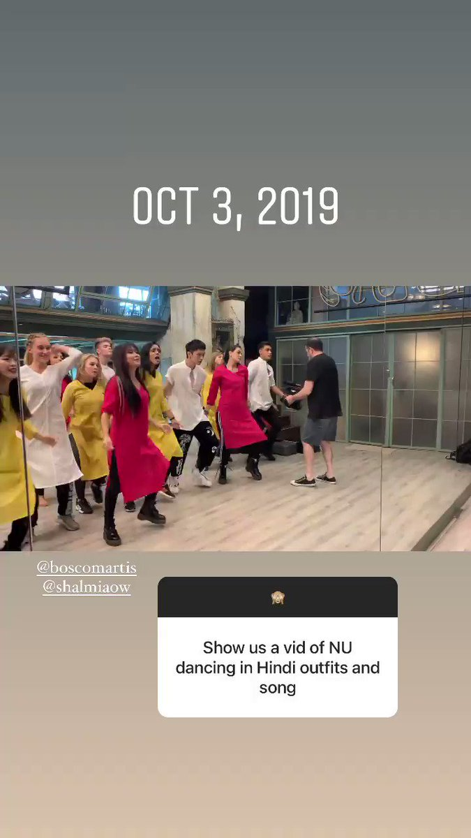During her takeover, Shivani shared a video of the @NowUnitedMusic members dancing to 'Balam Pichkari' from the Bollywood movie 'Yeh Jawaani Hai Deewani' from over a year ago.  They are all dressed in Kurti/Kurtas and performing at @BoscoMartis' studio.