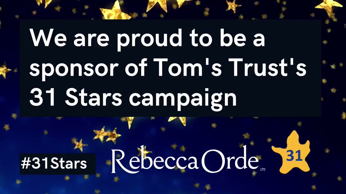 Rebecca Orde Ltd. is proudly supporting @toms_trust and their #31Stars. 31 Marathons in 31 days campaign in which marathon man Ben Blowes will run 26.2 miles every day in December - raising money to support children with brain tumours and their families.