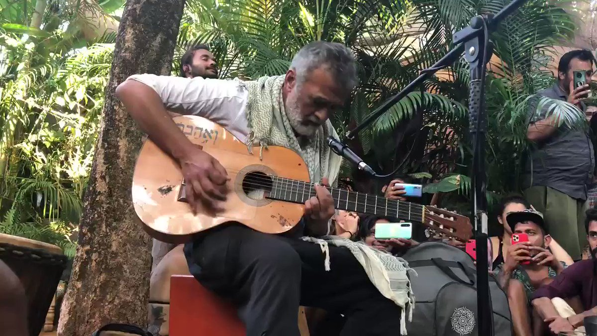Lucky Ali at Arambol in North Goa after listening to the musical evening was requested for a song and he sang impromptu for all present . Was a lovely setting .