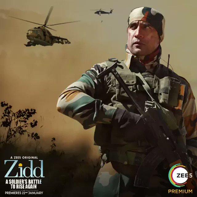 I will not tire nor will I be defeated because I have #JeetKiZidd   #Zidd trailer coming soon @zee5premium  @theamitsadh @_Amrita_Puri @freshlimefilms @boneykapoor @BayViewProjOffl @akash77 @JoyArunava @sushant_says @AlyGoni @vish2vish