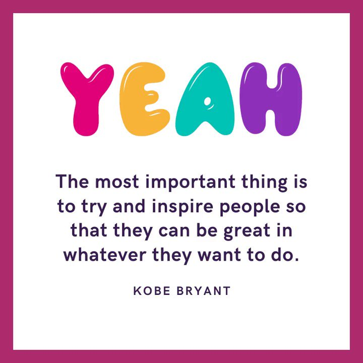 I couldn't agree more!!  #ripkobe #vocalcoach #voicelessons #creativecalling #createyourlife #gobeawesome #multipassionate #multipotentialite #creatives #auditioncoach #onlinelessons #takecareofyou #createyourmasterpiece #singinglessons #becreative #bepositive #joyofsinging