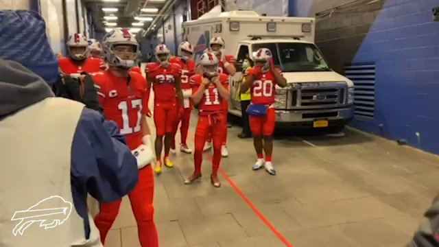 """The #Bills clearly took the #Steelers dancing on their logo seriously. Josh Allen before the game: """"Let them do all the talking and the f****** dancing... we do all the work.""""  (via @BuffaloBills)"""