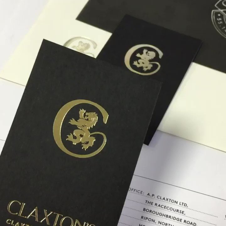 Image for the Tweet beginning: Beautiful Gold Hot Foiled stationery