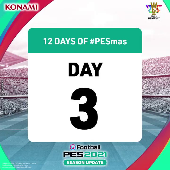 DAY 3 👀  Todays #PESmas prize:  1X @CelticFC 20/21 HOME SHIRT & #PES2021 FULL GAME CODE (on platform of your choice!) 🍀  To enter, Reply & R/T with #PESmasDay3 🙌  Ends 11:59am (GMT) 16/12/20. EU Only. Winners will be contacted within 72 hours.  T's & C's in bio. https://t.co/ttriDhxUan