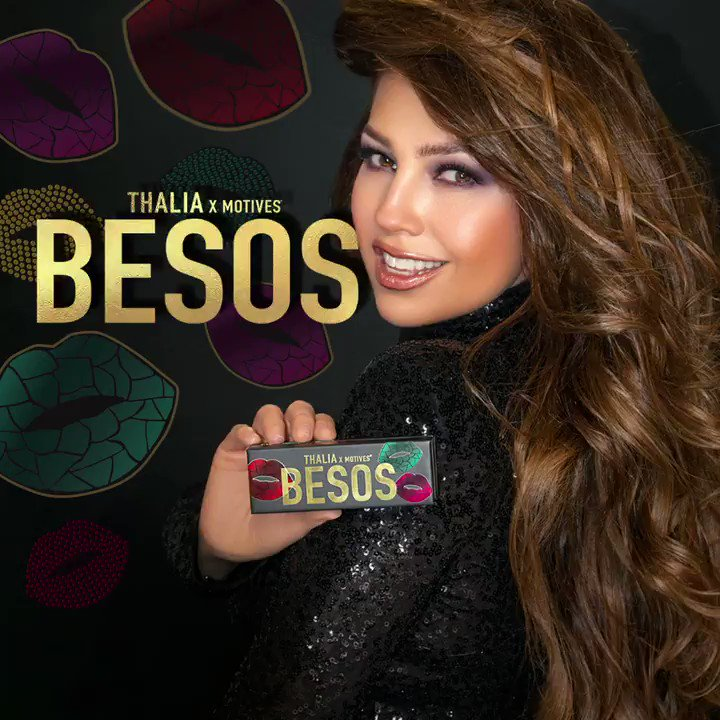 ¡El lanzamiento de mi nueva paleta, #ThaliaBESOS,  es HOY! @motives @lorenridinger  Today only, select countries can receive 20% off All Motives Cosmetics including #ThaliaBESOS! This special offer is available when using Mastercard + Click to Pay feature.