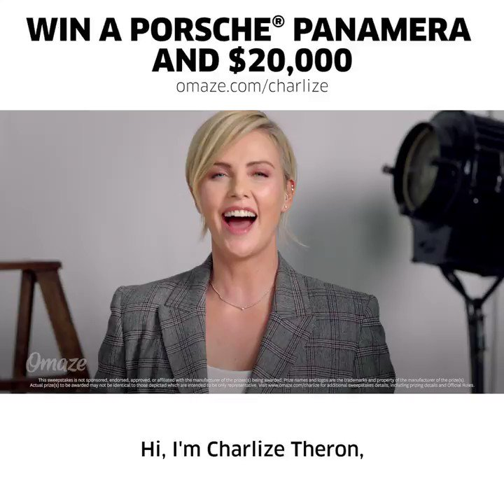 Final call… Don't miss your chance to win a limited anniversary edition Porsche Panamera and $20,000! Support the Charlize Theron Africa Outreach Project and ENTER: