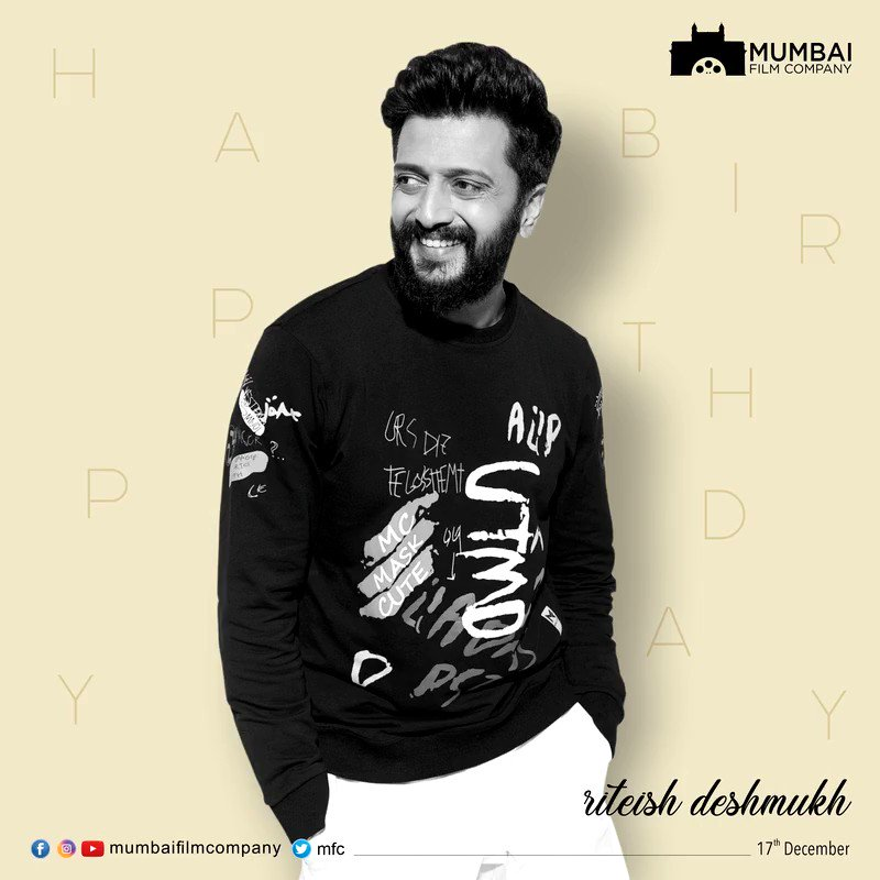 Wishing our Mentor and the Backbone of Mumbai Film Company @Riteishd a Very Happy Birthday. . . .  #MFC #HappyBirthdayRiteishDeshmukh