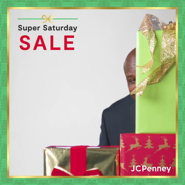 It's not too late to Shaq the halls with @jcpenney! 🎁Save up to 60% on last-minute gifts for everyone on your list and get 'em curbside during their Super Saturday Sale!