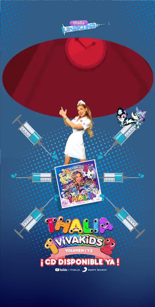 🎅 ¡ No te pierdas los mejores videos del más reciente disco a la venta de @thalia #VivaKids en su edición especial #VivaKids1y2 💋🤍🌡🚑 y disfruta #LaVacuna 🤍❤🧡💛💚💙💜 ¡ El mejor regalo para esta navidad ya disponible en tiendas y en tu plataforma digital favorita ! ❄🎄☃️
