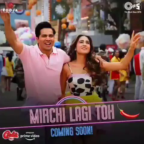 Finely #MirchiLagiToh 🌶️ Song Coming soon i am so excited 😍😍 #CoolieNo1OnPrime 6 days to go  #CoolieNo1 release christmas day 25 December 2020 only on @PrimeVideoIN OTT platform #excitedforcoolieno1 @Varun_dvn #SaraAliKhan