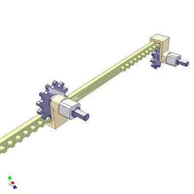 Pin Rack Mechanism for Reversing Rotation