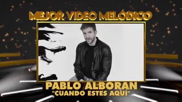 🔝🎶@pabloalboran ganador con su canción solidaria #CuandoEstésAquí en la categoría 'Mejor Video Melódico' de #PremiosQuiero2020 @quieromusicatv  ¡Felicitaciones!!! 👏🎉🎶🎶