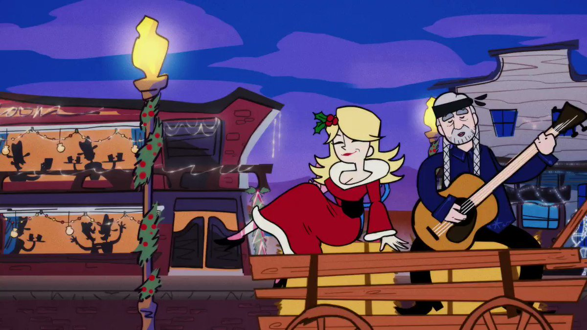 """Sometimes a wonderful friendship can turn into some especially wonderful music! Don't miss the U.S. premiere of the music video for """"Pretty Paper"""" with @WillieNelson on Tuesday at 9AM CT, only on Facebook ⭐️ #AHollyDollyChristmas"""